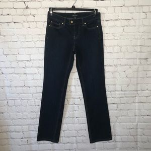 White House Black Market Noir Dark Wash Slim Jeans